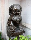 Lion Statue, ancient Chinese traditional arts — 图库照片