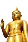 Statue buddha isolate on white background — Foto de Stock