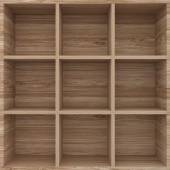 3d wood shelves for show case — Stock Photo