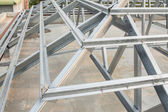 Metal roof structure — Stock Photo