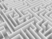 Endless maze 3d illustration — Stock Photo