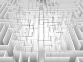Endless maze 3d illustration,wire frame — Stock Photo