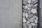 Gray Square Pavement with gravel — Stock Photo