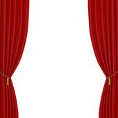 Tende rosse su sfondo bianco — Foto Stock