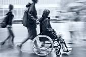 Disabled on a city street — Stock Photo