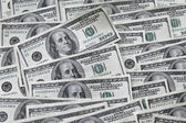 Hundred dollar bills — Stock Photo