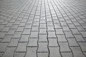 Gebied van keramische bakstenen visgraat patroon — Stockfoto