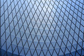 Textured blue glass ceiling inside — Stok fotoğraf