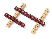 Practice motivational crosswords — Stock Photo