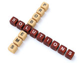 Problems and Solutions crosswords — Stockfoto