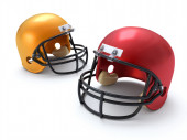 Football Helmets — Stock Photo
