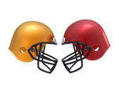 confront Football Helmets — Stock Photo