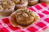 Banana Walnut and Chia Seed Muffins — Stock Photo