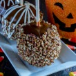 Hand Dipped Caramel Apples with Nuts and Chocolate — Stock Photo #55455979