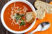 Fresh Homemade Tomato Soup — Stock Photo