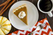 Homemade Pumpkin Pie Slices — Foto de Stock