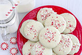 Chocolate Peppermint Holiday Cookies — Stock Photo