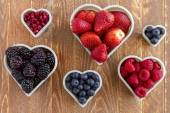 Assorted Fresh Berries and Pomegranate Seeds — Stock Photo