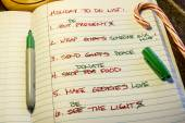 Holiday To Do List — Stock Photo