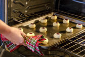 Baking Cookies in Home Kitchen — Stock Photo