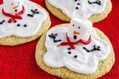 Melting Snowmen Decorated Sugar Cookies — Stock Photo