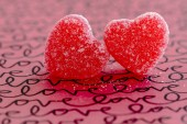 Valentines Day Heart Candy and Cookies — Stock Photo