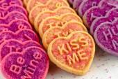 Alla hjärtans dag hjärtat godis och kakor — Stockfoto