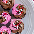 Valentines Day Candy and Cupcakes — Stock Photo #63346517