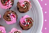 Walentynki-dzień Candy i babeczki — Zdjęcie stockowe