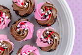 Valentines Day Candy and Cupcakes — Stock Photo