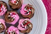 Valentines Day Candy and Cupcakes — Zdjęcie stockowe