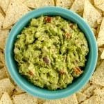 Fresh Homemade Chunky Guacamole Dip — Stock Photo #63616687