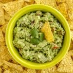Fresh Homemade Chunky Guacamole Dip — Stock Photo #63616705