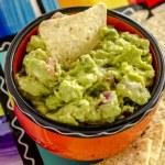 Fresh Homemade Chunky Guacamole Dip — Stock Photo #63616983