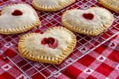 Heart Shaped Cherry Hand Pies — Stock Photo