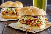 Barbeque Pulled Pork Sandwiches  — Stock Photo