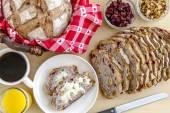 Fresh Baked Cranberry Walnut Bread — Stock Photo