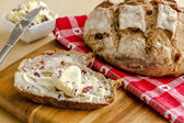 Fresh Baked Cranberry Walnut Bread — Stock Photo