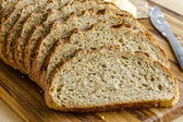 Fresh Baked Whole Grains and Seeded Bread — Stock Photo