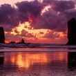 Sunset at Cannon Beach Oregon — Zdjęcie stockowe #71047085