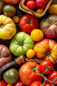 Assortment of Fresh Heirloom Tomatoes — Stock Photo