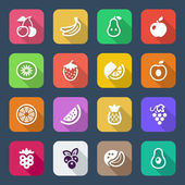 Flat fruits iconset — Stock Vector