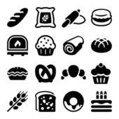 Bakery iconset — Stock Vector