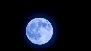Super Moon in the sky — Stock Video