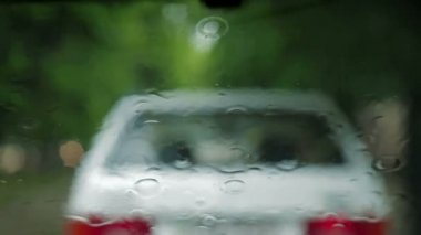 Driving during rain. — Stock video