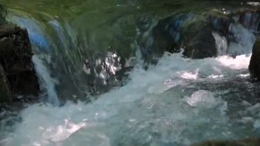 Flowing River Stream. Crimea. Sound — Stock Video