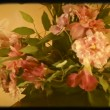 Bouquet Of Flowers and Basket With Wedding Decorations — Stock Video #77021817