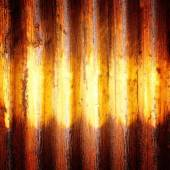 Colse up old zinc rusty corrugated metal wall pattern abstract background — Foto Stock