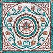 Old wall ceramic tiles patterns handcraft from thailand public. — Stock Photo