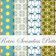 Six in One Retro Seamless Pattern on Classic Style — Stock Vector #65348929